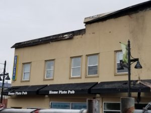 heritage building fire, heritage apartments, home plate pub, shane morey
