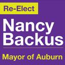 Re-elect Nancy Backus campaign logo
