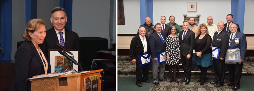Nancy Backus, Dow Constantine, John Spellman, John Spellman Award, KCHPP, Auburn, City of Auburn, Historic Auburn, Masonic Lodge