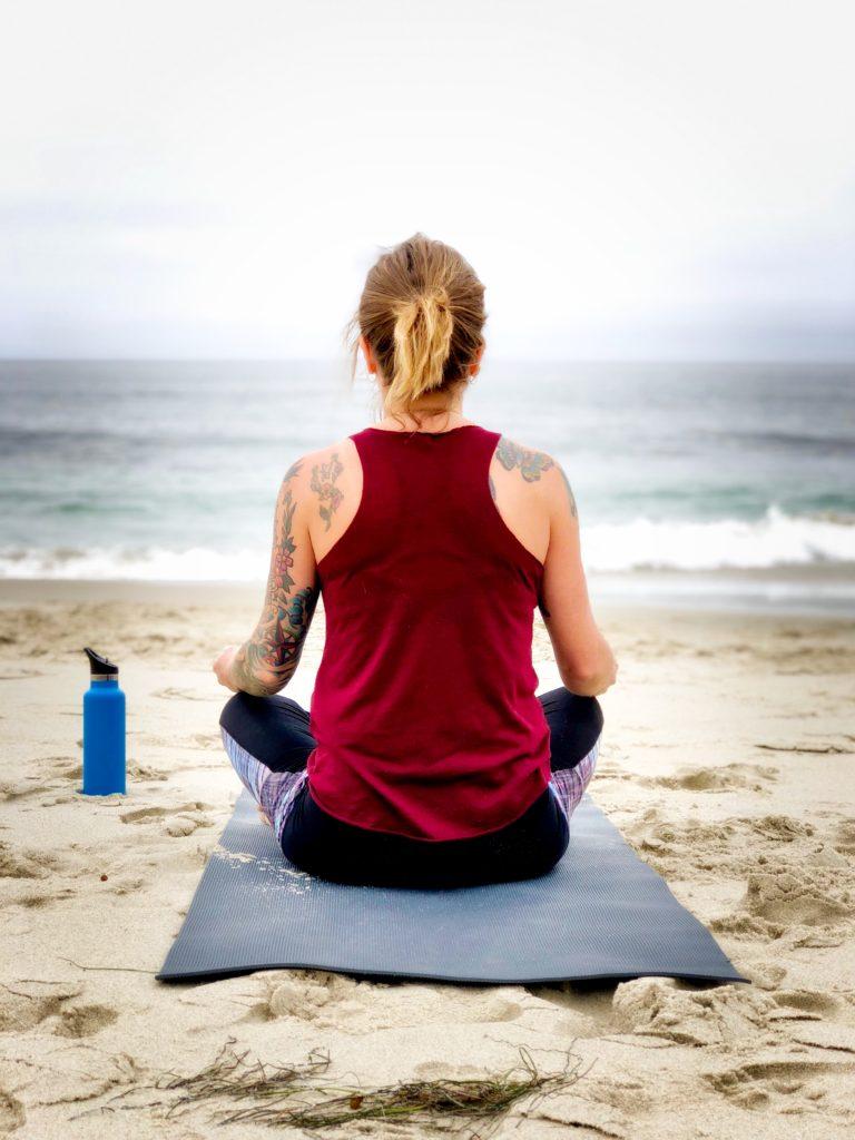 calm, serenity, peace, peaceful, at peace, mindfulness, beach yoga, beach meditation