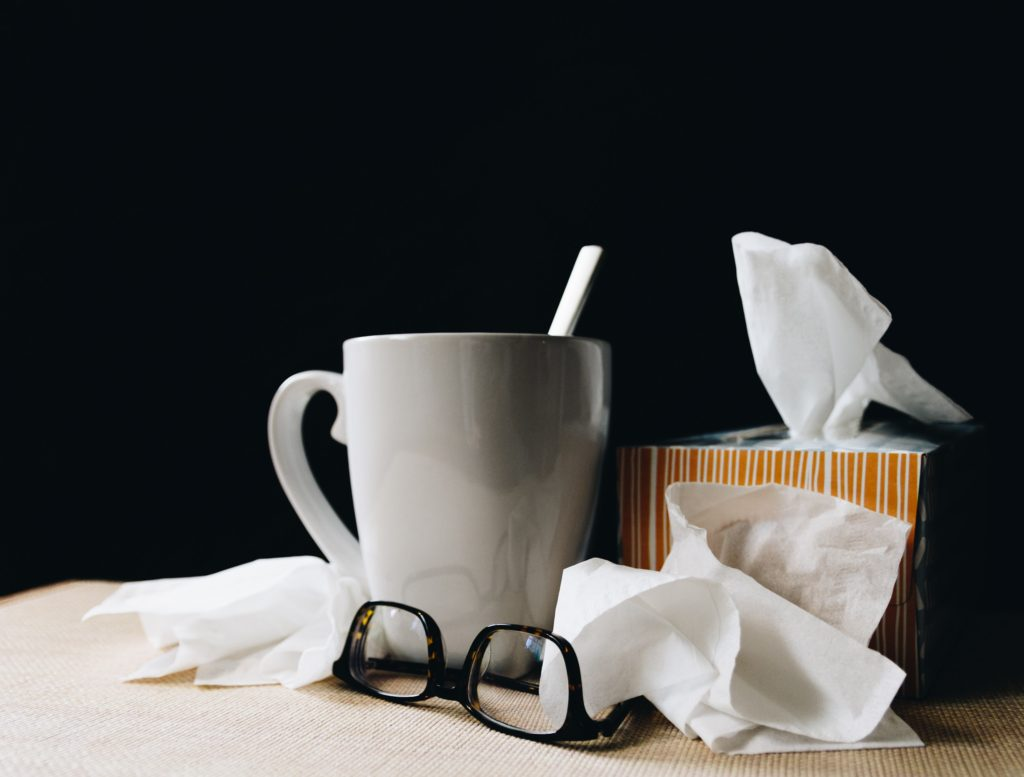 flu, multicare, auburn, sick, tissues