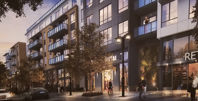 pillar properties, auburn town center, auburn wa apartments, courtyard, the auburn town center