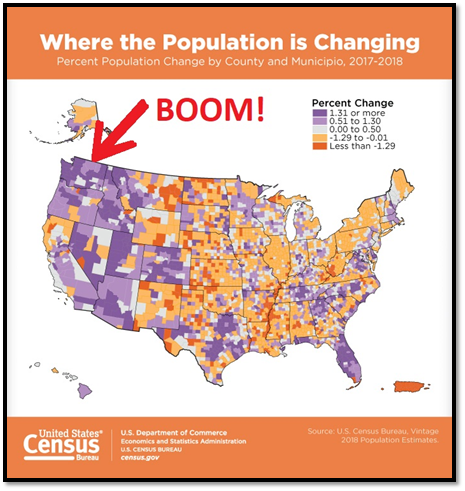 us census, washington population growth, real estate and population growth