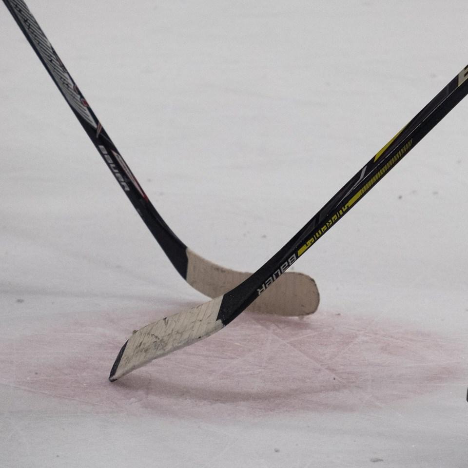 center ice, face off, harry riley, hockey, hockey stick, ice hockey