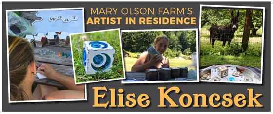 mary olson farm, artist in residence,