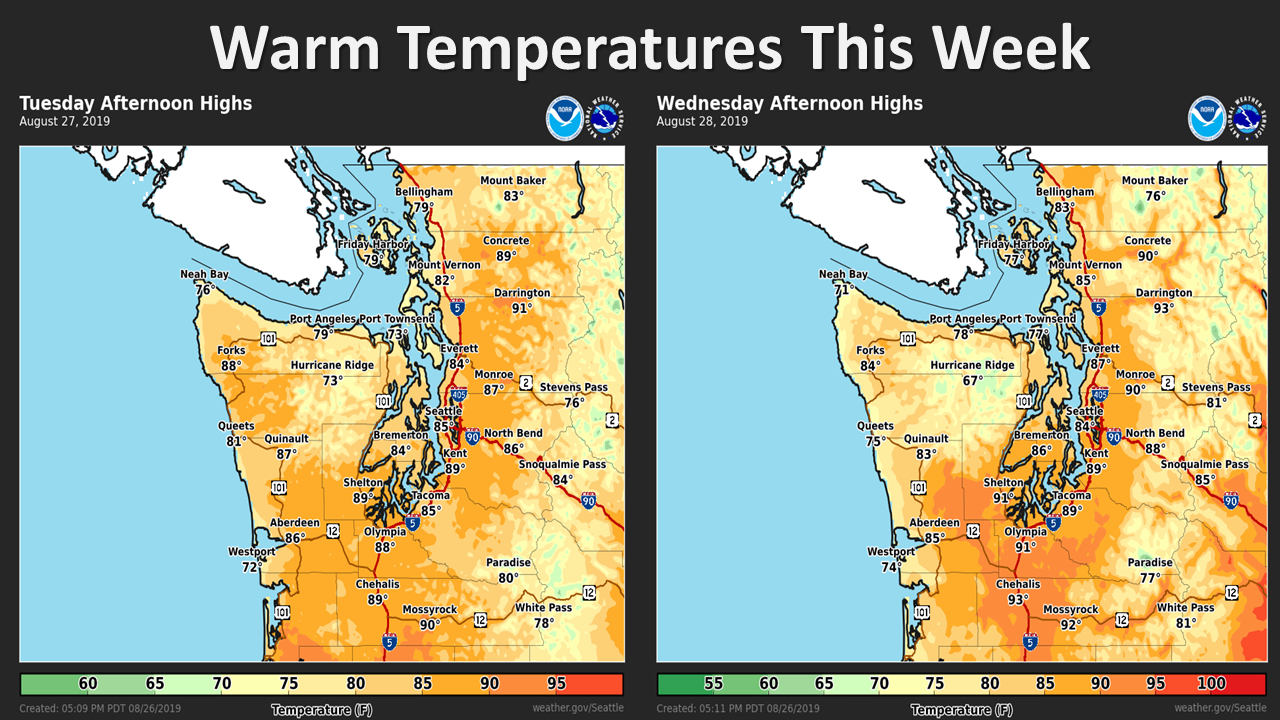 nws, national weather service, seattle temps