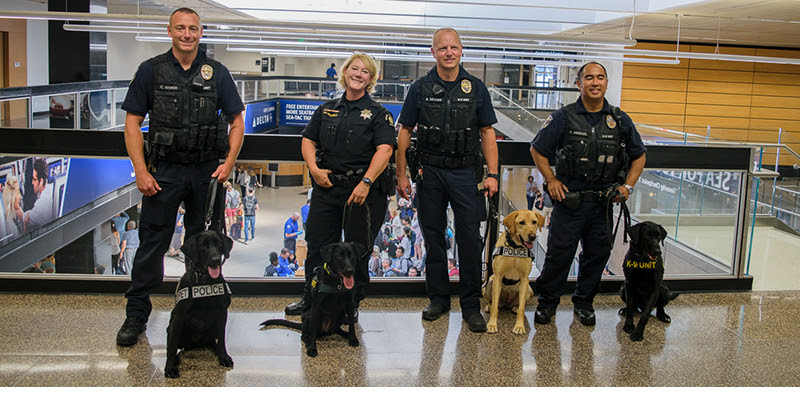 port of seattle, port of seattle canines, seatac canines, seatac k9s, k9 unit