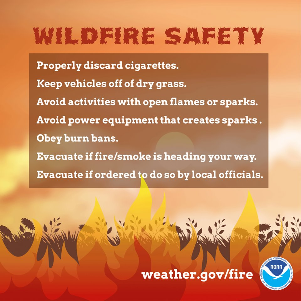 fire weather warning, fire warning, national weather service