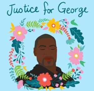 Justice for George illustration created by Shirien
