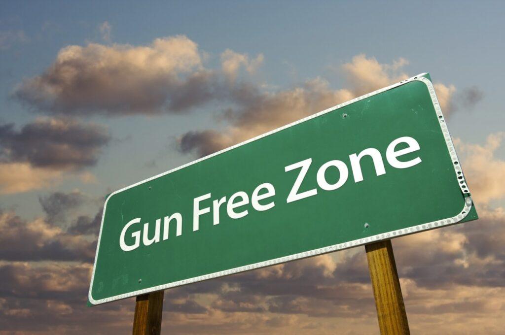 gun free zone, gun free zone sign