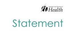washington state department of health statement logo