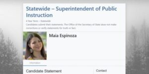 Maia Espinoza, Maia EspinozaOSPI candidate, OSPI candidate Maia Espinozastatement,