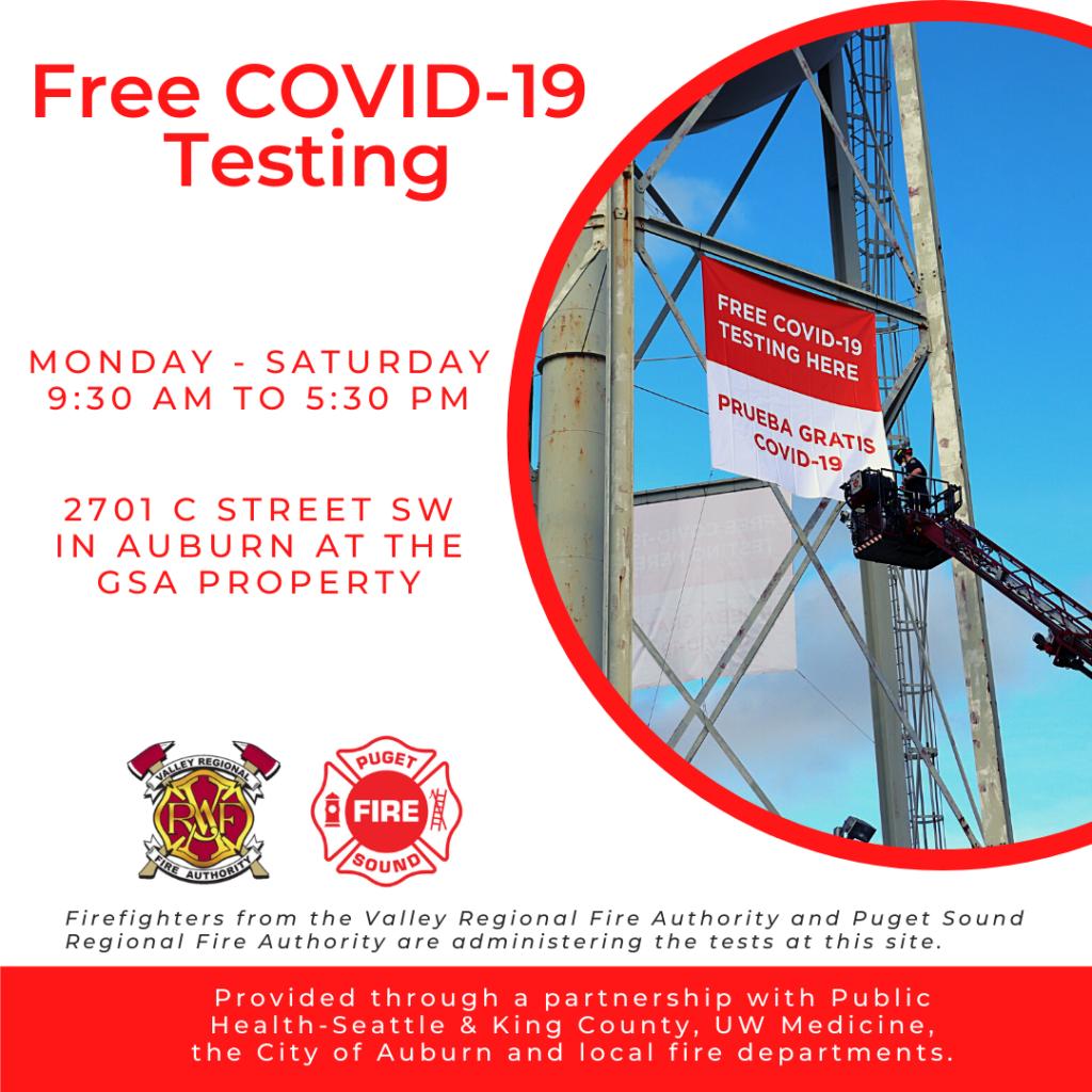 covid-19, auburn covid-19, mayor backus covid-19, auburn covid-19 rates, auburn testing site, auburn covid-19 test, vrfa covid-19 testing site