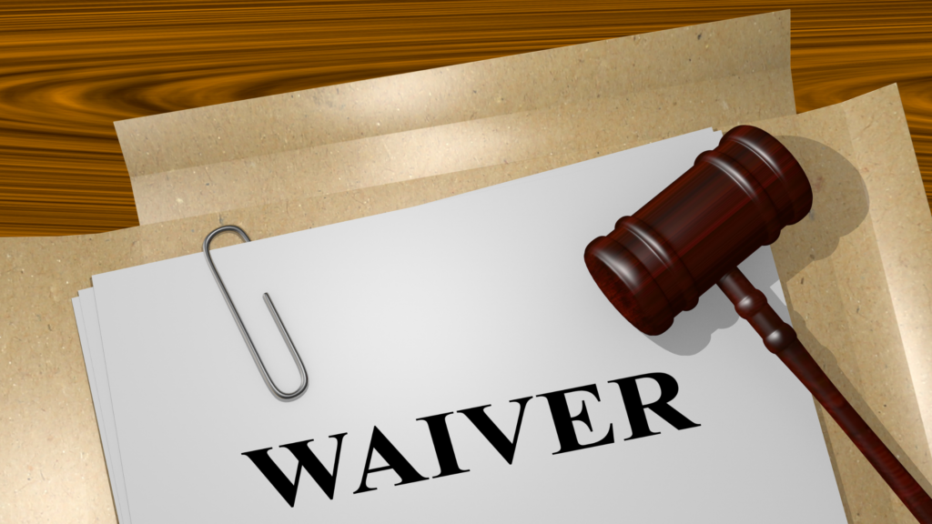 waiver, waiver form