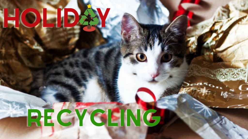 holiday recycling, what can I recycle christmas, christmas recycling, wrapping paper recycling, battery recycling, auburn wa recycling, christmas tree recycling auburn wa,