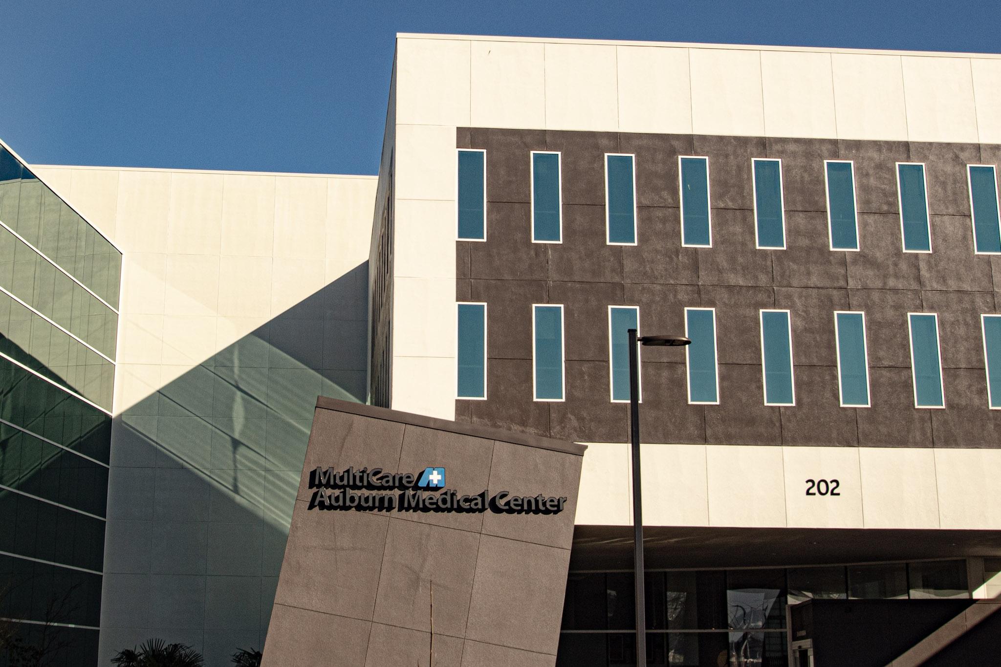 The back side of Multicare Auburn Medical Center in Auburn Washington