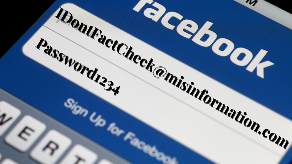 A facebook login screen