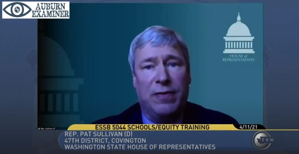 Rep. Pat Sullivan testifies during ESSB 5044 hearing.