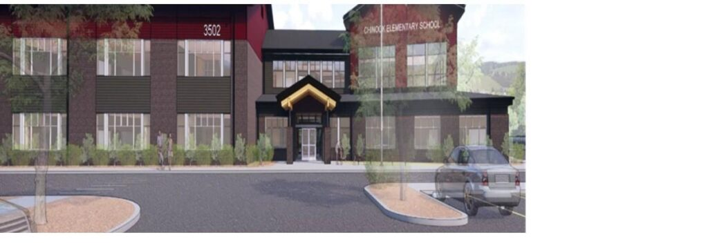 a rendering of the new Chinook Elementary School