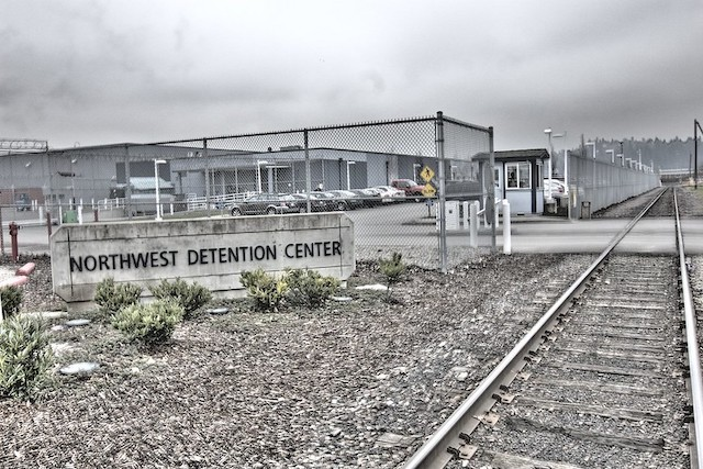 a photo of the Northwest Federal Detention Center in Tacoma