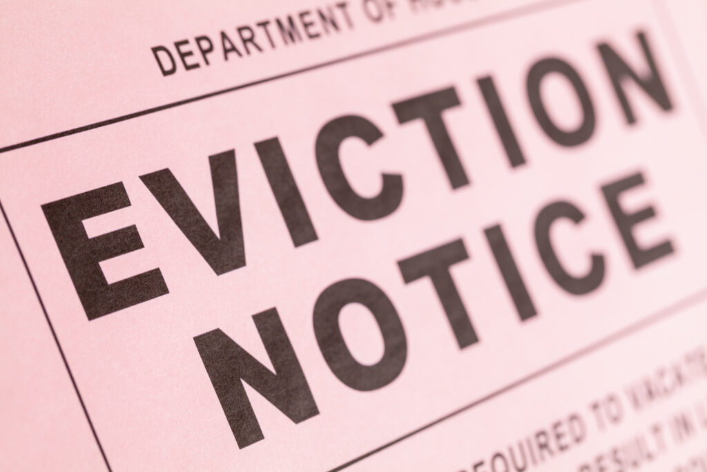 Department of Housing Eviction Notice Close Up.
