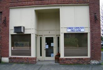 The entrance to Christ Community Free Clinic
