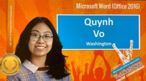 a graphic celebrating Quynh Vo's first place win