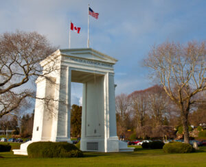 The Peace Arch at the US/Canada border