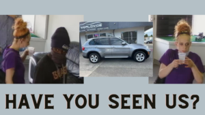 header photo of two suspects in Auburn car dealership armed robbery