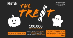 The Treat by Revive event graphic. Information on graphic contained in article